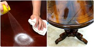 Как очистить полированную мебель