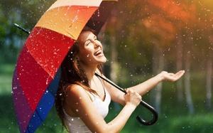 Сушка зонта после дождя
