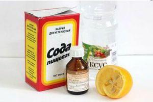 Сода, лимон и нашатырь