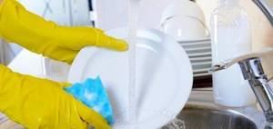 Как убрать запах с посуды