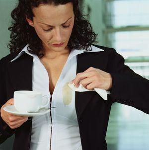 Как вывести пятно от кофе