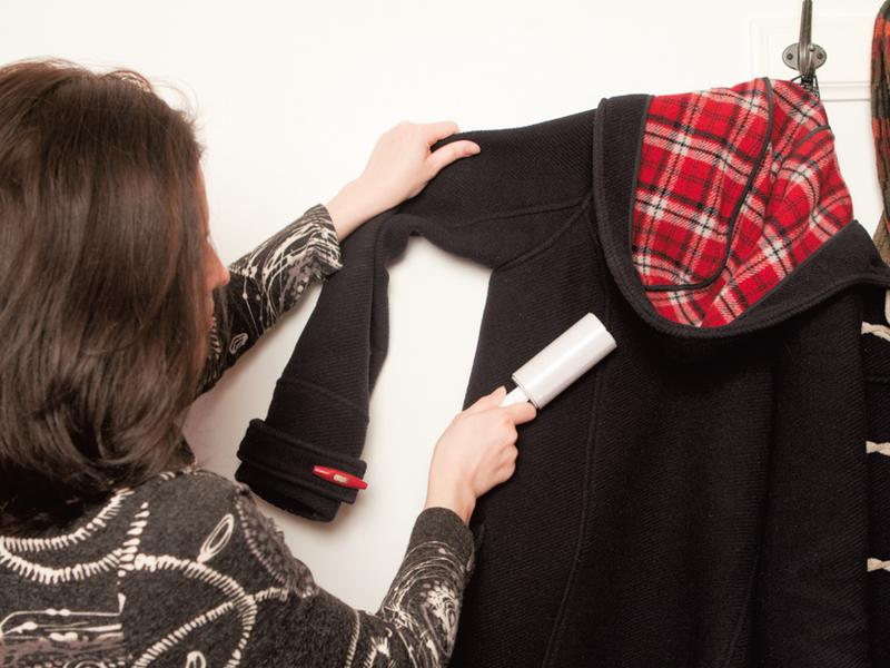 Чистка одежды от шерсти котов и собак